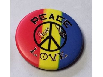 PEACE. Badge ,nålmärke. 32mm