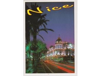 NICE FRANCE AT NIGHT POSTCARD VKORT