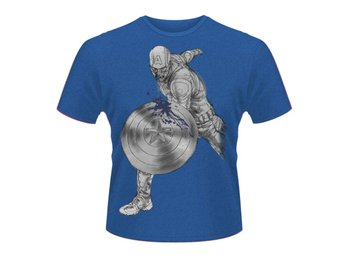 MARVEL AVENGERS- CAPTAIN A SPLASH T-Shirt - Large