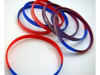 4st US flagga Silicone armband  55mm