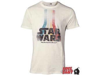 Star Wars Retro Rainbow Logo T-shirt Vit (Medium)