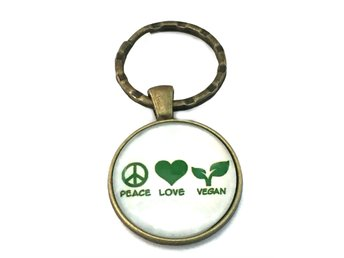 Nyckelring Vegan Peace Love
