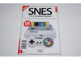 SNES the complete manual oöppnad tidning