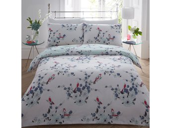 Beautiful Birds Blue Duvet Cover Bedding Quilt Pillowcase Set Single Double King