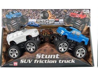 VN Leksaker - Friktion Monster Trucks 2-Pack Blå + Vit 9-10 cm