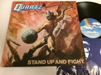 QUARTZ stand up and fight LP -80 UK MCA MCF 3080 heavy metal