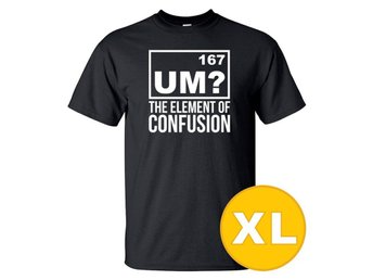T-shirt The Element Of Confusion Svart herr tshirt XL
