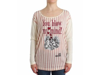 Moschino - White striped longsleeved cotton top