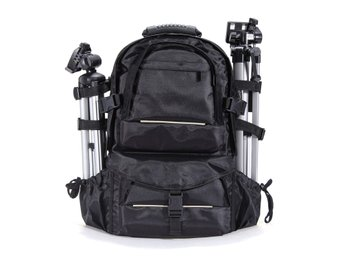 Waterproof Nylon Camera Backpack Bag With Rain Cover For ...