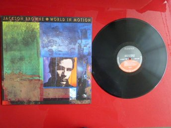 JACKSON BROWNE, WORLD IN MOTION, INTO THE LIGHT, LP, LP-SKIVA - Anderstorp - JACKSON BROWNE, WORLD IN MOTION, INTO THE LIGHT, LP, LP-SKIVA - Anderstorp