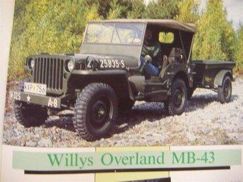 Jeep Willys Overland MB-43 -- Jeep familjen -- - Skärholmen - Jeep Willys Overland MB-43 -- Jeep familjen -- - Skärholmen