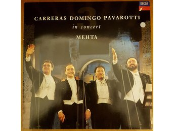 Lp - Carreras Domingo / Pavarotti in concert / Mehta