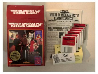 Where in Americas Past is Carmen Sandiego? Retro Macintosh spel disketter