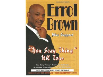 Mini Poster (flyer) av ERROL BROWN från London-konsert