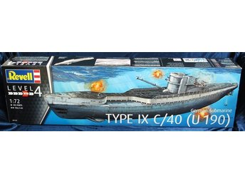 Revell 1/72 German Submarine Type IX C/40