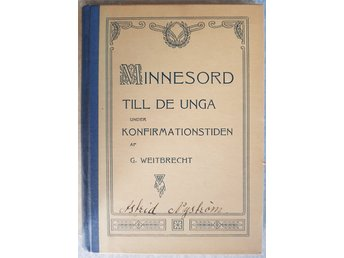 Minnesord till de unga under konfirmationstiden. 1911.