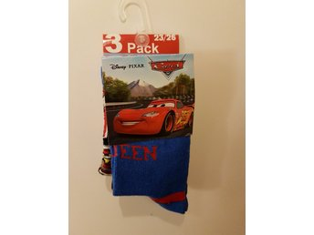 3-pack Strumpor Cars Bilar Disney 23-26
