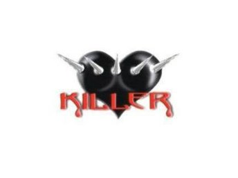 Killer Heart. Dekal/sticker för bilen, mc, moped mm