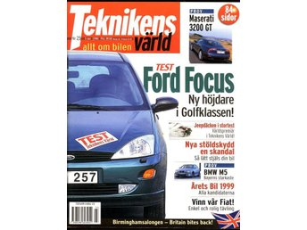 Teknikens Värld nr 23 1998. Ford Focus, BMW M5 m.m.