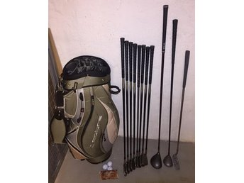 "Golfset ""Dunlop Equation"" Grafitset + Ny Titleist 1"" Driver & Ny Cobra Tour Bag"