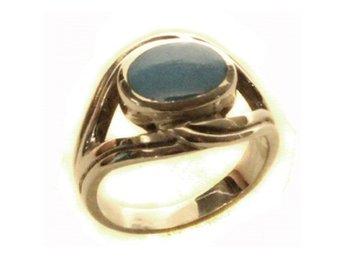Ring med turkos, äkta silver, strlk 17 - Skövde - Ring med turkos. Bredd: 15 mm. - Skövde