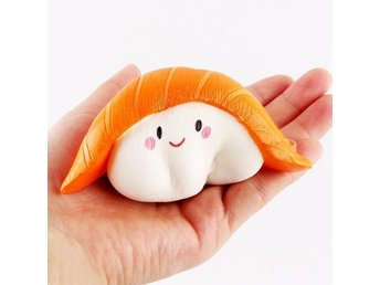 Squishy slow-  Sushi (Vit/Orange) 12cm