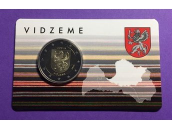 2 euro coin in Blister - Vidzeme Region - Latvia, 2016