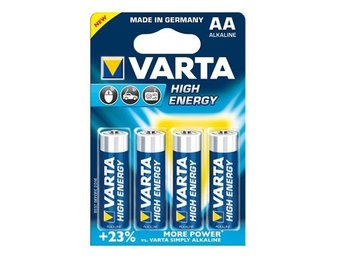 4x Varta Alkaline Batteries AA Mignon LR6 HR6 ON061