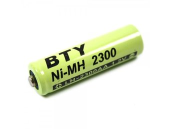 1pcs BTY AA 2300mAh Ni-MH Rechargeable Battery Green WWE01435