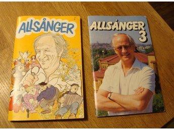 ALLSÅNGER-Allsångshäften 2 Stycken, Bosse Larsson, Se bilder! - Hofors - ALLSÅNGER-Allsångshäften 2 Stycken, Bosse Larsson, Se bilder! - Hofors