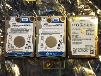 3X WD/Hitachi 500/640Gb Sata2/3 2.5""