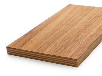 Teak Plywood enkelsidig - 9x1250x2500 mm