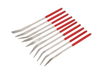 10 piece Bent Diamond Files Ideal for all intricate work Angled fileing set