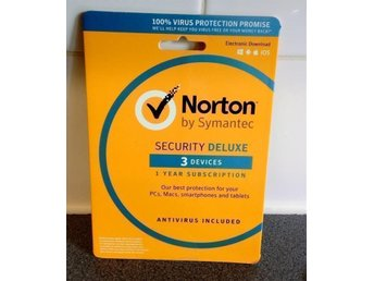 Norton Security 3.0 2018 - 3 PC / Android / Mac,1 Års Licens