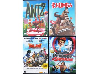 FILMPAKET! (ANTZ, KHUMBA, VALIANT, MR PEABODY & SHERMAN)