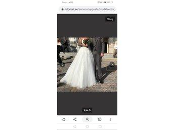 Brudklänning i drömmig tyll (405757787) ᐈ Köp på Tradera