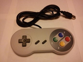 PC: Super Nintendo Gamepad/Handkontroll USB (Ej original) - Ny