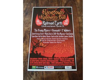 KONSERTPOSTER / Hangtown Halloween Ball 2011 / Railroad Earth / 7 Walkers