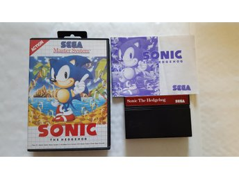 Sonic the Hedgehog Master system komplett begagnad