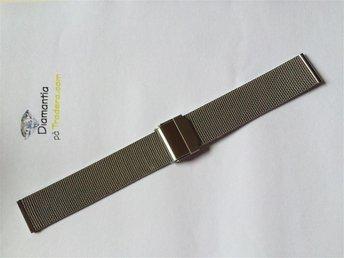 18 mm -- mesh länk -- NYTT -- klocklänk klockarmband -- länk i stål för dykare - Boliden - 18 mm -- mesh länk -- NYTT -- klocklänk klockarmband -- länk i stål för dykare - Boliden