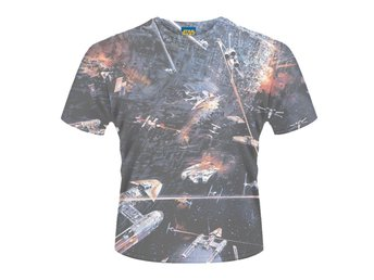 STAR WARS- HUGE SPACE BATTLE (DYE SUB) T-Shirt - Large