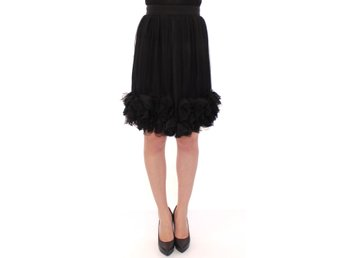 Dolce & Gabbana - Black Silk Transparent Above Knees Skirt