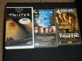 VHS - TWISTER / VERTICAL LIMIT / TRAFFIC
