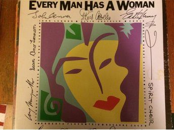 Every Man Has A Woman. HARRY NILSSON, JOHN LENNON, mfl  (1984) (Polydor/Ono) LP