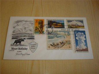 Alaska Mount Mc Kinley National Parks Series 1972 USA förstadagsbrev 8 frimärken - Jämjö, Blekinge - Alaska Mount Mc Kinley National Parks Series 1972 USA förstadagsbrev 8 frimärken - Jämjö, Blekinge