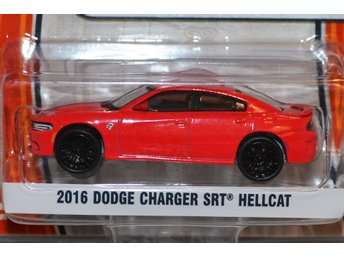 2016 Dodge Charger SRT Hellcat 1:64 (Greenlight GL Muscle) Series 16 Röd Ny - Hässleholm - 2016 Dodge Charger SRT Hellcat 1:64 (Greenlight GL Muscle) Series 16 Röd Ny - Hässleholm