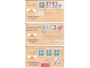 3 st REK/ASS brev med postförskott (13) - Floby - 3 st REK/ASS brev med postförskott (13) - Floby