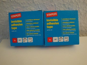 Staples invisible adhesive tape 2 st
