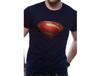 SUPERMAN MAN OF STEEL - TEXTURED LOGO (UNISEX) - Small