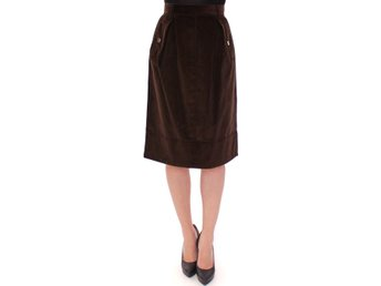 Dolce & Gabbana - Brown Manchester Knees-Length Pencil Skirt